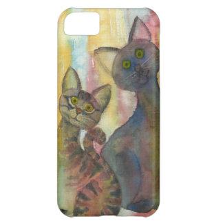 Kitten Monsters Watercolor iPhone 5C Cases