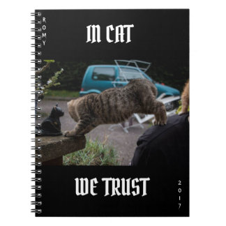 Kitten Notebook, IN CAT WE TRUST 2017 Notebook