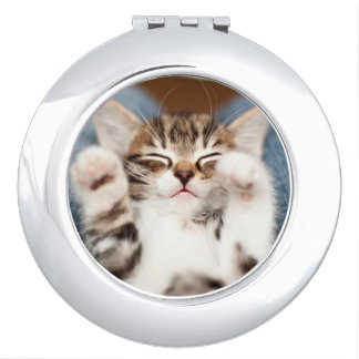 Kitten On My Lap Mirror For Makeup