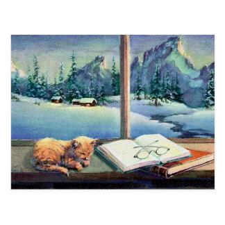 KITTEN on the SILL by SHARON SHARPE Postcard