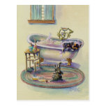 KITTEN on the TUB by SHARON SHARPE Postcard