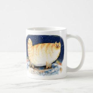 Kitten on top of the world mug