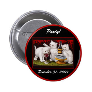 Kitten Party New Year s Eve - Button 2