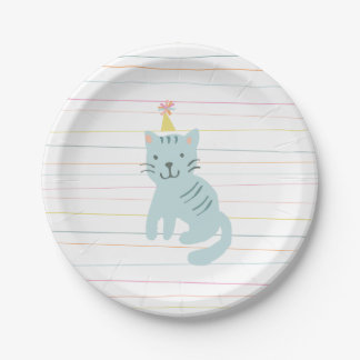 Kitten Party Paper Plate
