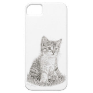 Kitten Phone case, cat art, kitten drawing iPhone 5 Cover