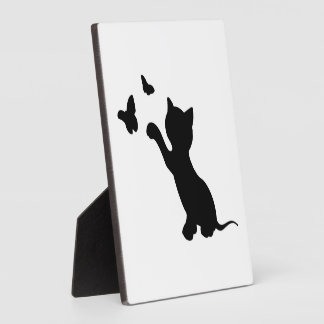 KITTEN PLAYING WITH BUTTERFLIES PLAQUE
