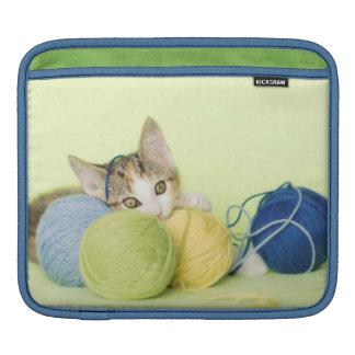 Kitten Playing Yarn iPad Sleeve