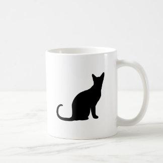 Kitten Silhouette Decor Love and Cats Coffee Mug