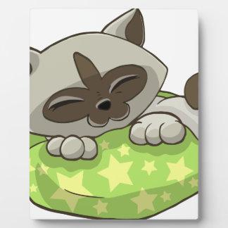 Kitten Sleeping on a Pillow Plaque