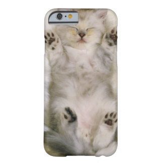 Kitten Sleeping on a White Fluffy Carpet, High Barely There iPhone 6 Case