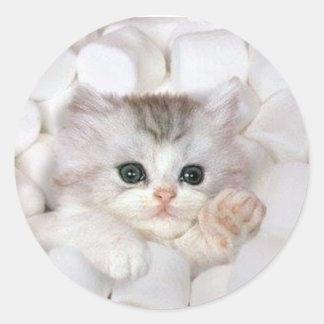 Kitten Swimming in Marshmallows Sticker