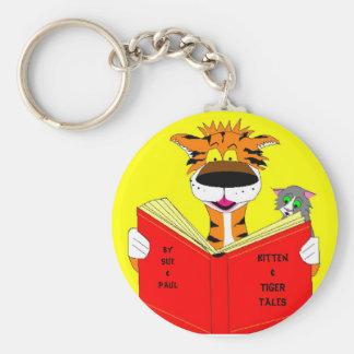 Kitten & Tiger Tales, Basic Round Button Keychain