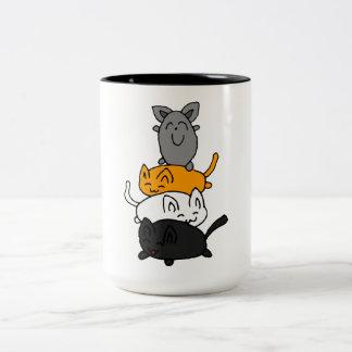 Kitten Two-Tone Coffee Mug