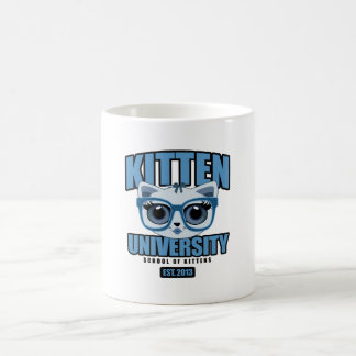 Kitten University - Blue Coffee Mug