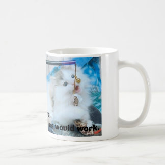 kitten with lips, see ma...I knew those injecti... Coffee Mug