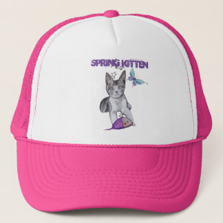Kitten with Toy Mouse Trucker Hat