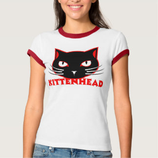 Kittenhead new logo girls ringer tee