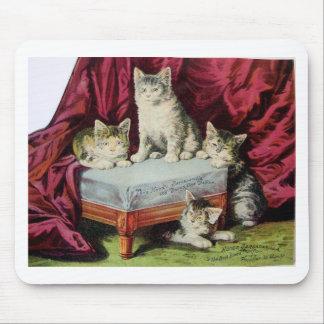 Kittens Advertising Hoods Sarsaparilla Vintage Art Mouse Pad