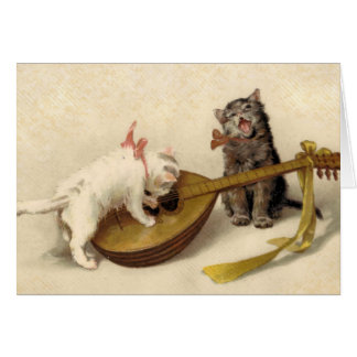 Kittens and the Mandolin Card