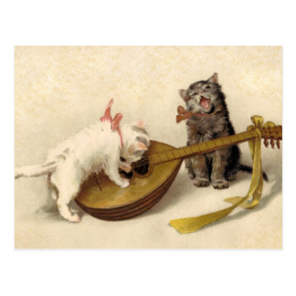 Kittens and the Mandolin Postcards