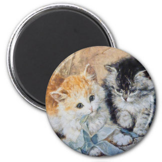 Kittens at Play 2 Inch Round Magnet