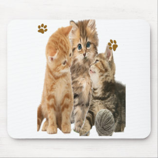 Kittens at play products mouse pad
