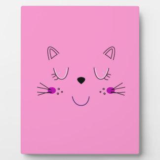 Kittens cute pink plaque