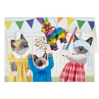 Kittens Fiesta Pinata Greeting Card