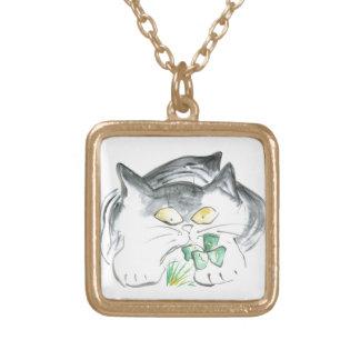 Kitten's Four Leaf Clover Jewelry