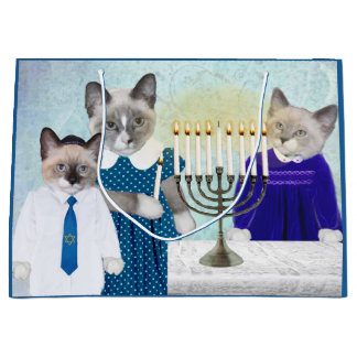 Kittens' Hanukkah Large Gift Bag