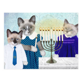 Kittens' Hanukkah Postcard