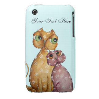 Kittens in Love iPhone 3 Case