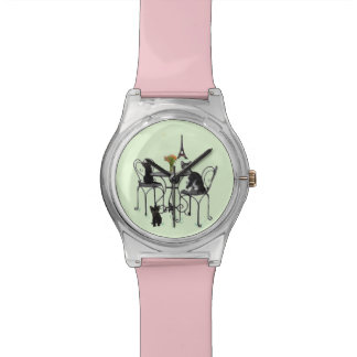 Kittens in Paris Pink and Mint Watch