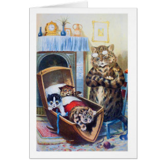 Kittens in the Cradle Card