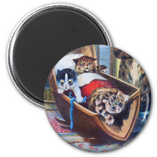 Kittens in the Cradle Magnet