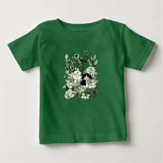 Kittens in the Wildflowers Baby T-Shirt