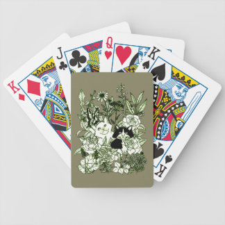 Kittens in the Wildflowers Bicycle Playing Cards