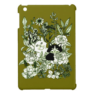 Kittens in the Wildflowers iPad Mini Cover