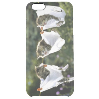Kittens in underwear on clothesline clear iPhone 6 plus case