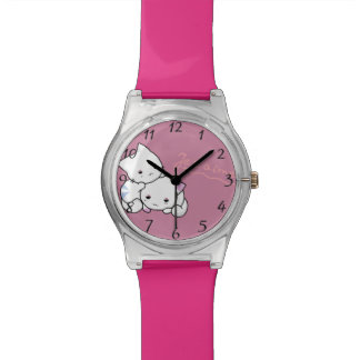 Kittens je t'aime wrist watches