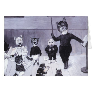Kittens Learn to Sing Card
