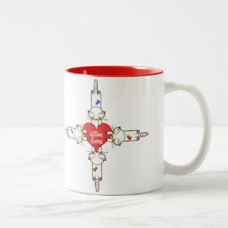 Kittens Lovers Two-Tone Coffee Mug
