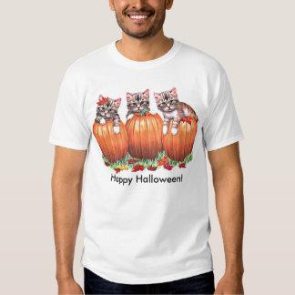 Kittens on Pumpkins for Halloween Tshirts