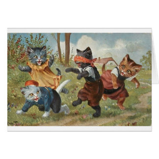 Kittens Playing Blind Man's Bluff, Card