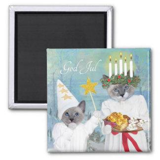 Kittens' Santa Lucia Magnet