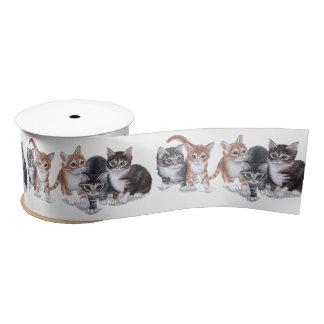 kittens satin ribbon