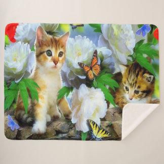 Kittens Sherpa Blanket