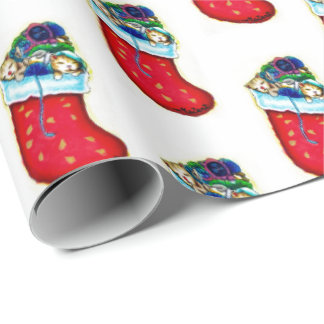 Kittens' Stalking Wrapping paper