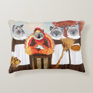 Kittens Thanksgiving Accent Pillow