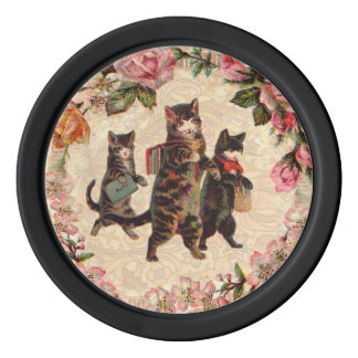 Kittens Vintage Cats Poker Chips